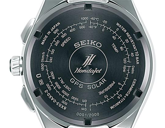 SBXB133J Seiko Astron GPS Solar HondaJet Limited Edition_Kaliber 8X53 - NEU ab August! Eingraviertes HondaJet Logo, Seriennummer und Skalen auf dem Gehäuseboden! Eine Astron für Piloten, Trendsetter und den global reisenden Geschäftsmann - jetzt NEU!